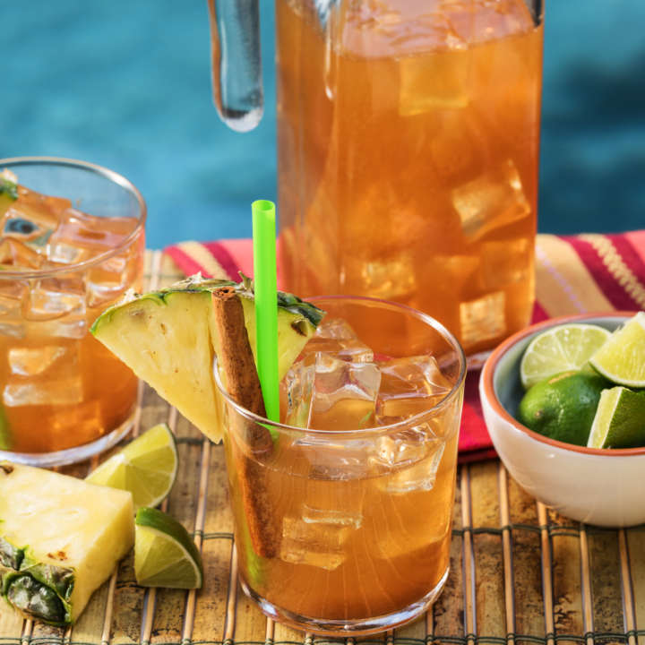 Pineapple-Cinnamon Iced Tea Margarita