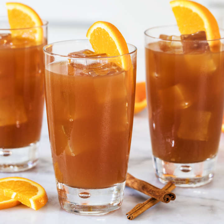 Orange-Cranberry Spiced Iced Tea
