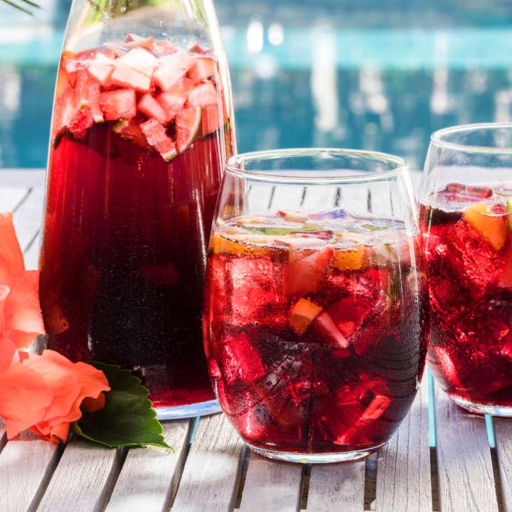 Hibiscus Iced Tea Strawberry Sangria